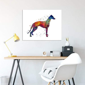 Greyhound watercolor art print - PrintsFinds