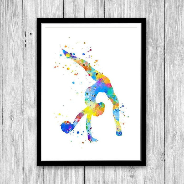 Gymnast Watercolor Print Sports Art Poster