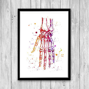 Hand and wrist bones anatomy art - PrintsFinds