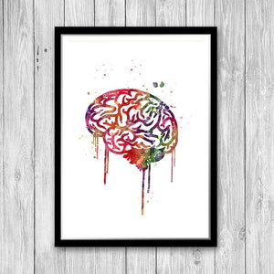 Human Brain Set of 3 prints - PrintsFinds