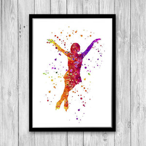Ice Skating, Figure Skating Watercolor Print - PrintsFinds