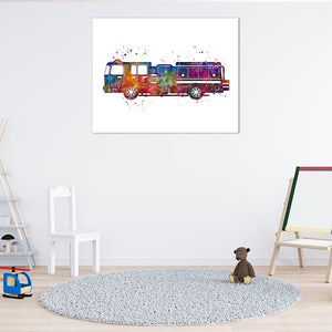 Fire Truck for Kids Room Decor