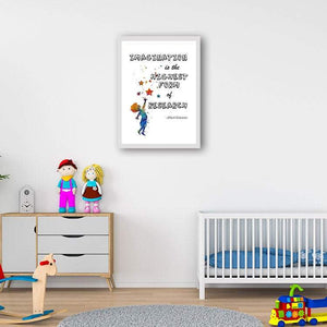 Imagination is the highest form of research - Einstein Quote Art Print - PrintsFinds