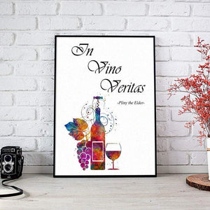 In Vino Veritas - Quote Print - PrintsFinds