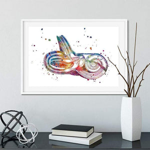 Inner Ear Watercolor Print - PrintsFinds