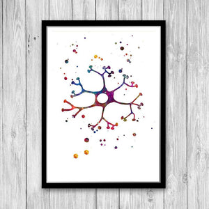 Interneuron Cell watercolor print - PrintsFinds