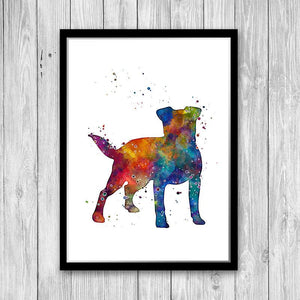 Jack Russell Terrier Watercolor Print - PrintsFinds