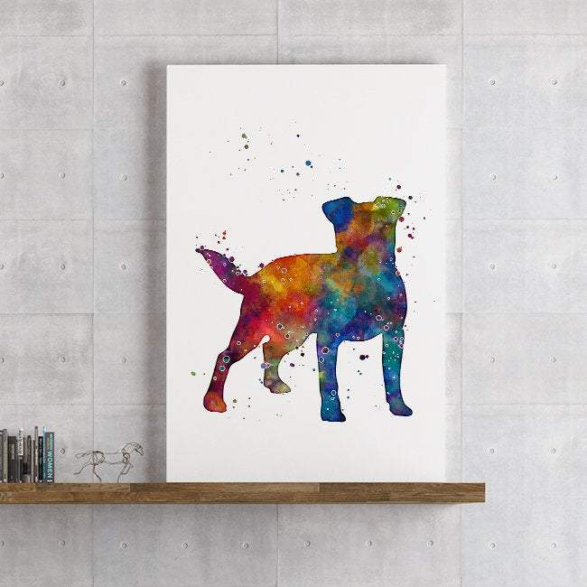 Jack Russell Terrier Watercolor Print