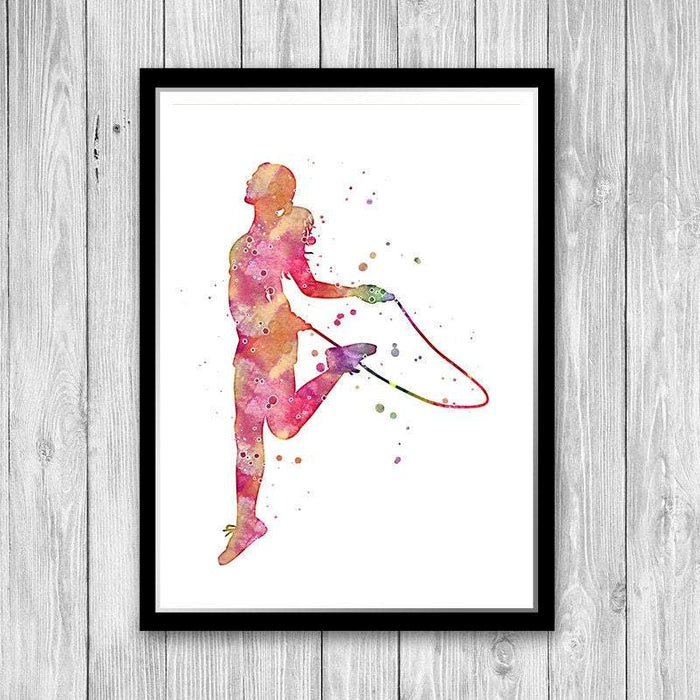 Jump Rope Girl Art Print