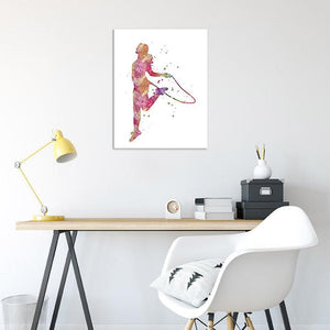 Jump Rope Girl Art Print - PrintsFinds