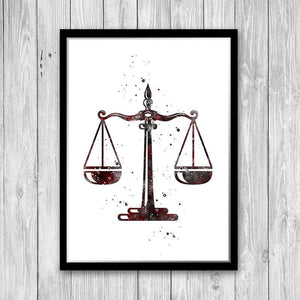 Lawyer gift for women Law office decor Set of 3 watercolor prints - PrintsFinds
