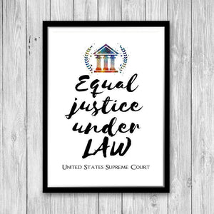 Lawyer Graduation Gift Quote Art Print, Law Office Decor, Law School Wall Art - PrintsFinds