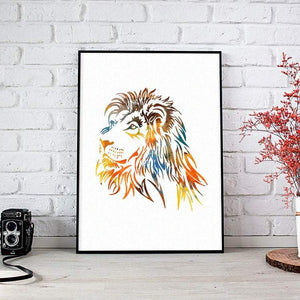 Lion art print - PrintsFinds