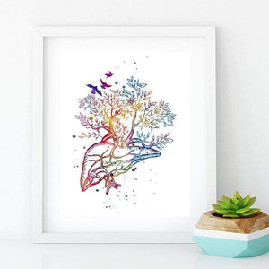 Liver Tree Anatomy Art - PrintsFinds