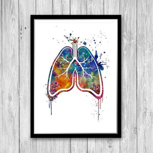 Lungs Watercolor Art Print - PrintsFinds
