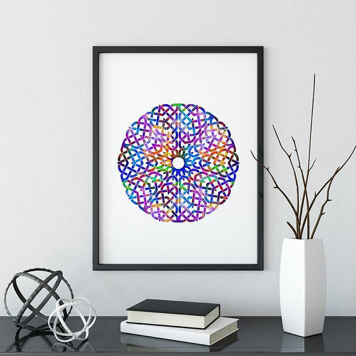 Mandala Art for Kids Room Watercolor Print