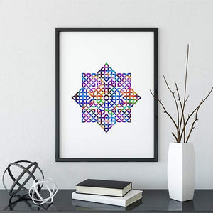 Mandala Watercolor Print - PrintsFinds