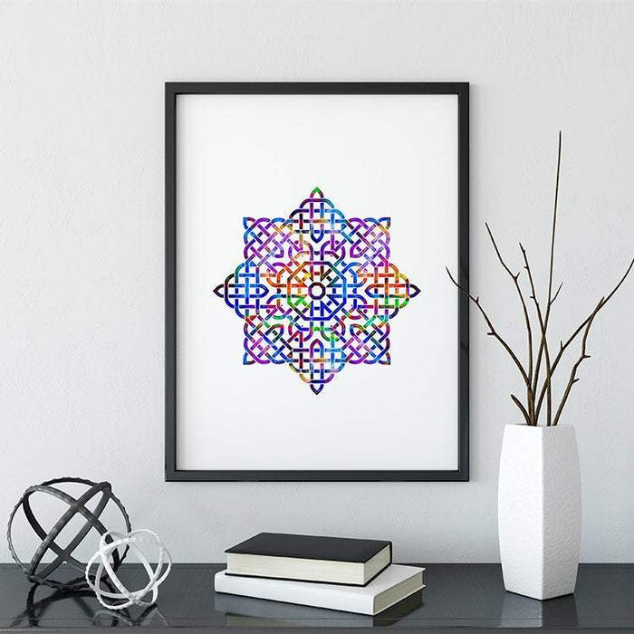 Mandala Watercolor Print