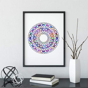 Mandala Watercolor Print II - PrintsFinds