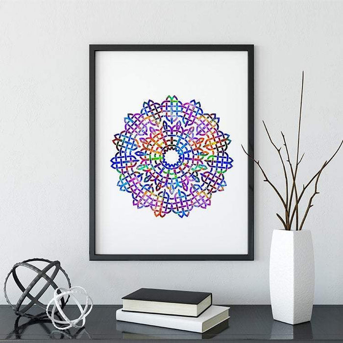 Mandala Watercolor Print III