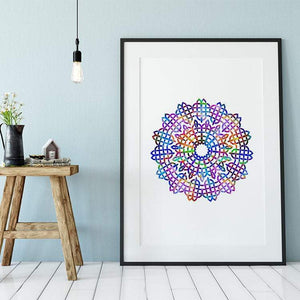 Mandala Watercolor Print III - PrintsFinds