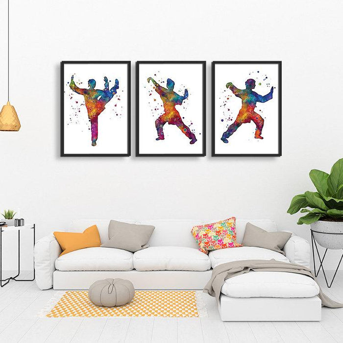 Martial Arts set of 3 prints