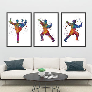 Martial Arts set of 3 prints - PrintsFinds