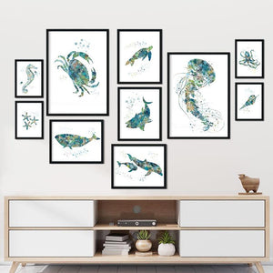 Nautical Art Prints set of 10 - PrintsFinds