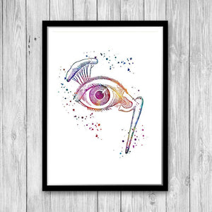 Ophthalmology Art Eye Anatomy Watercolor Print - PrintsFinds