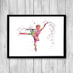 Pink Ballerina Art Print Nursery decor - PrintsFinds