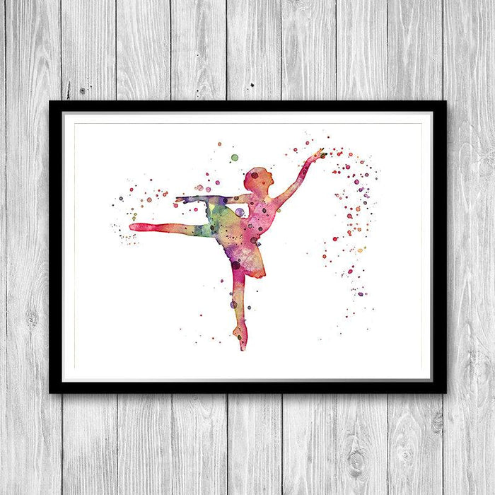 Pink Ballerina Art Print Nursery decor