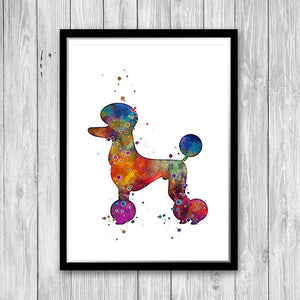 Poodle Art Watercolor Print - PrintsFinds