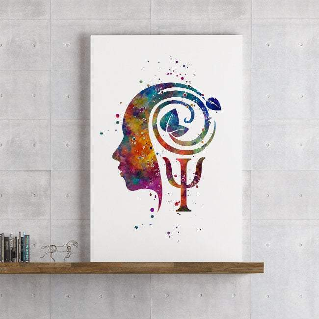 Psychology art watercolor print