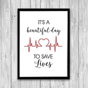 Quote print for doctor office decor - PrintsFinds
