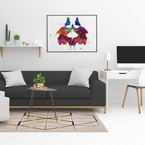 Rorschach Art Watercolor Print - PrintsFinds