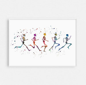 Running Phases, Physical therapy art - PrintsFinds