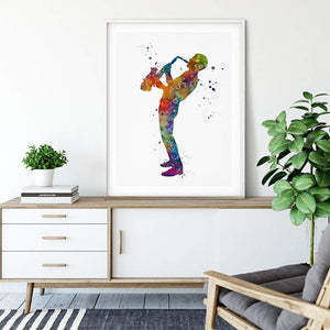Saxophone player print, Music room decor - PrintsFinds