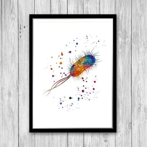 Science Art Microbiology Watercolor Prints Set of 3 - PrintsFinds