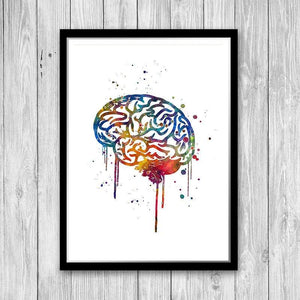 Set of 3 prints Human Brain, Heart and Lung - PrintsFinds