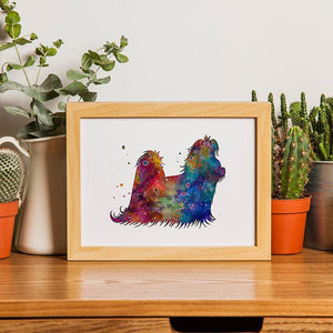 Shih Tzu art print Dog Lover Gift - PrintsFinds