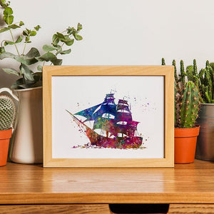 Ship Watercolor Print - PrintsFinds