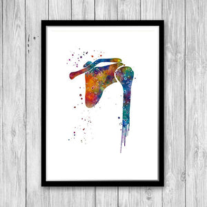 Shoulder Joint Watercolor Print - PrintsFinds