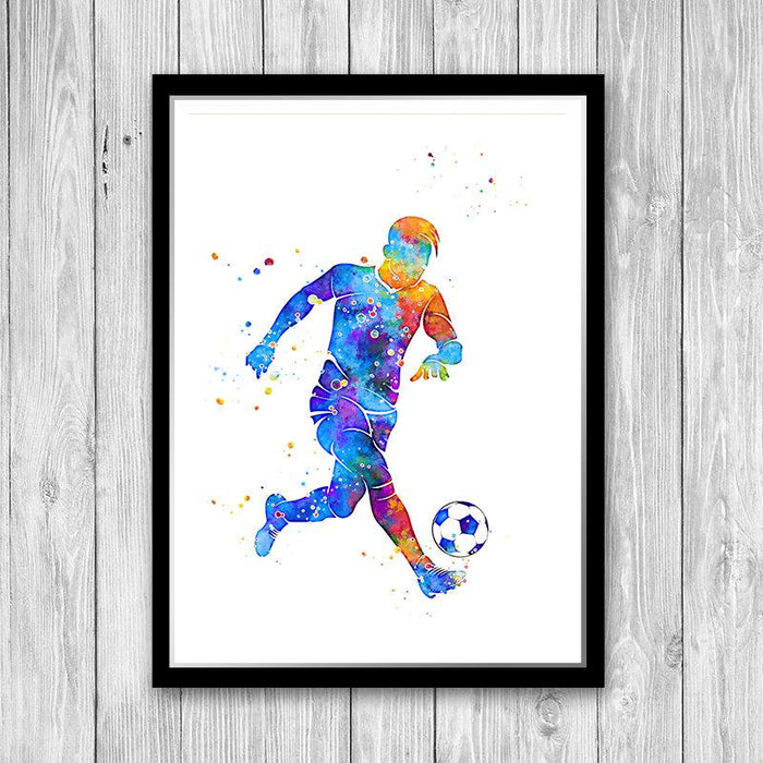 Soccer print for boys rooms