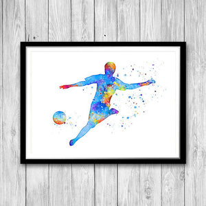 Soccer Watercolor Print Decor for Boys Room - PrintsFinds
