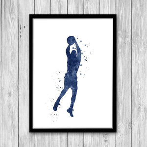 Sports Art for Boys Room Set of 3 Watercolor Prints Football Baseball and Basketball - PrintsFinds