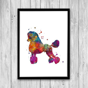 Standard Poodle Dog Breed Watercolor Print Pet Owner Home Decor - PrintsFinds