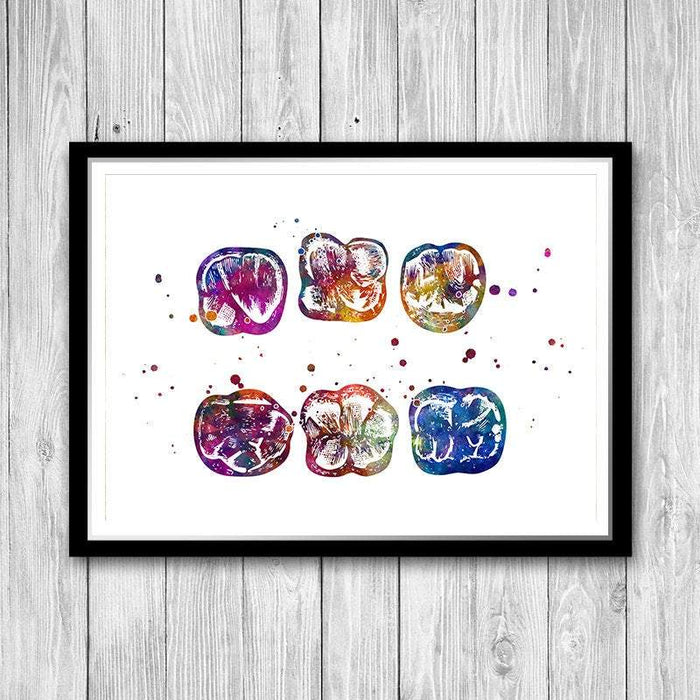 Surface of Molar Watercolor print
