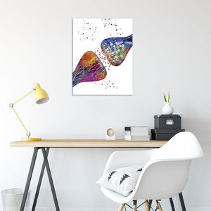 Synapses Watercolor Print, Neuroscience Art - PrintsFinds