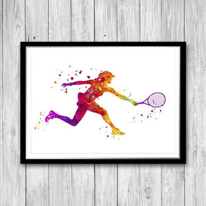 Tennis Woman Player Print - PrintsFinds
