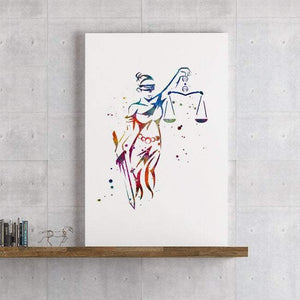 Themis Lady Justice Watercolor Print Lawyer Gift for Women - PrintsFinds